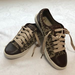 Stylish brown Michael Kors sneakers